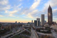 I stadens centrum Atlanta huvudväg Royaltyfri Fotografi