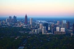 I stadens centrum Atlanta på soluppgång Royaltyfri Bild