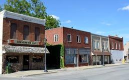 I stadens centrum atlantiska Iowa Arkivbilder
