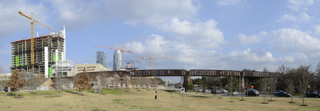 I stadens centrum Austin Texas Arkivfoto