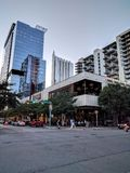 I stadens centrum Austin TX Arkivfoto