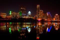 I stadens centrum Austin, Tx fyrverkerier Royaltyfria Bilder