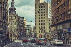 I stadens centrum aveny Royaltyfria Bilder