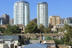 I stadens centrum Baku Arkivfoto