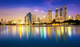 I stadens centrum Bangkok stad Arkivfoto