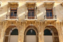 I stadens centrum Beirut arkitektonisk detalj Royaltyfri Foto