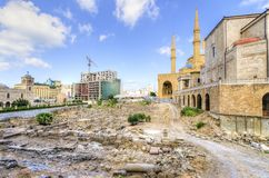 I stadens centrum Beirut, Libanon Royaltyfri Bild