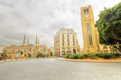 I stadens centrum Beirut, Libanon Arkivbild