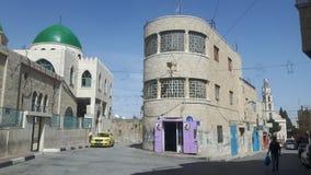 I stadens centrum Beit Sahour arkivbild