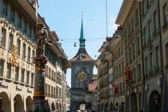 I stadens centrum Berne, schweizare Arkivbilder