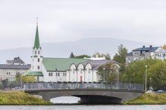 I stadens centrum bild av Reykjavik Arkivbild