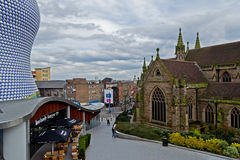 i stadens centrum birmingham Royaltyfri Fotografi