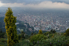 I stadens centrum Bogota uppifrån Arkivfoton