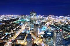 I stadens centrum Boston Arkivbilder