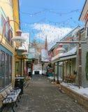 I stadens centrum Breckenridge Colorado gränd royaltyfria foton