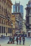 I stadens centrum Bucharest Royaltyfria Bilder