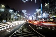 I stadens centrum Bucharest universitetmitt Royaltyfri Foto