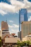 I stadens centrum byggnader i oklahoma city Arkivbild