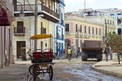 I stadens centrum Camaguey, Kuba Arkivbilder
