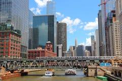 I stadens centrum Chicago Arkivfoto