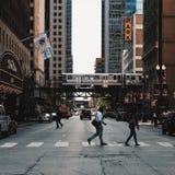 i stadens centrum chicago Royaltyfri Bild