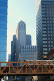 i stadens centrum chicago Royaltyfri Bild