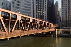 I stadens centrum Chicago Arkivbilder