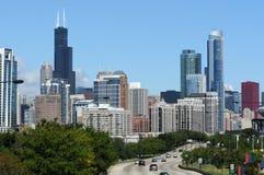 i stadens centrum chicago cityview Fotografering för Bildbyråer