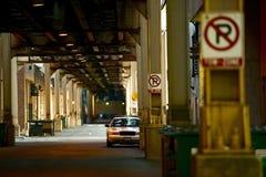 I stadens centrum Chicago gränd Arkivfoto