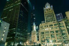 I stadens centrum Chicago Illinois Royaltyfri Fotografi