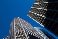 I stadens centrum Chicago modern och gammal byggnadsCityscape royaltyfri bild