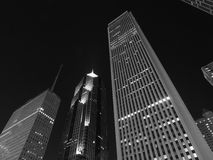 I stadens centrum Chicago på natten Royaltyfri Fotografi