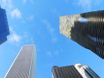 I stadens centrum Chicago skyskrapor Royaltyfria Foton