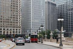 I stadens centrum Chicago stad Arkivbild