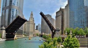 I stadens centrum Chicago strand Arkivfoto