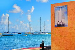 I stadens centrum Christiansted, St Croix, USVI arkivfoto