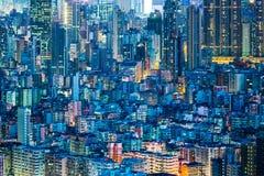 I stadens centrum cityscape i Hong Kong Royaltyfri Fotografi