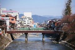 I stadens centrum Cityscapesikt av Takayama Royaltyfri Fotografi