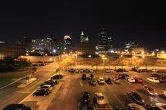 I stadens centrum Cleveland från den östliga sidan Arkivfoton