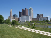 I stadens centrum Columbus Skyline royaltyfria foton