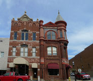 I stadens centrum Crawford County Bank Building, Van Buren, Arkansas arkivbild