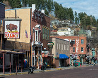 I stadens centrum Deadwood royaltyfria foton