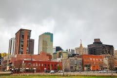I stadens centrum Denver cityscape Arkivfoto