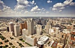 I stadens centrum Detroit Arkivbilder