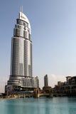 i stadens centrum dubai för adress hotell Royaltyfri Bild
