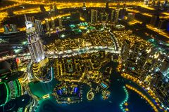 I stadens centrum Dubai. Östligt United Arab Emirates arkitektur Arkivfoton