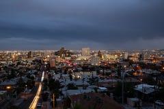 I stadens centrum El Paso, Texas Arkivfoton