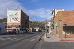 I stadens centrum Ely Nevada arkivfoton