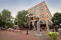I stadens centrum Eugene Oregon Arkivfoto