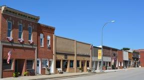 I stadens centrum Exira, Iowa Royaltyfri Foto